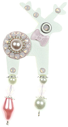 Deers Brosă mini Cerb Emily - Swarovski® Elements
