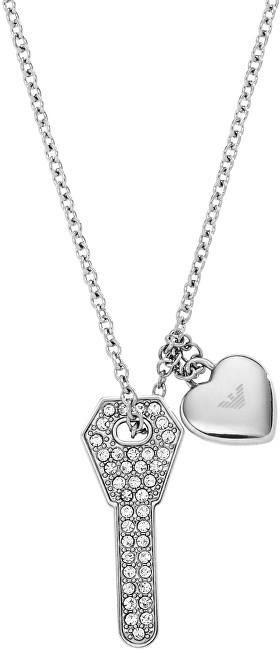 Emporio Armani Ocelový náhrdelník s klíčkem EGS2202040