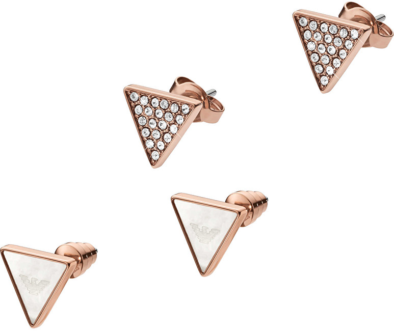 Emporio Armani Set cercei triunghiulari EGS2367221