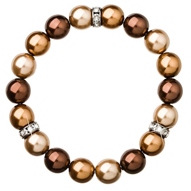 Evolution Group perlový náramek hnědý 33061.3