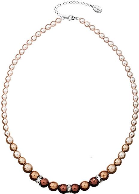 Evolution Group Náhrdelník s perlami 32005.3 brown