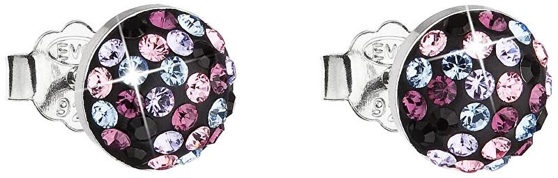 Evolution Group Něžné náušnice s krystaly Magic Violet 31136.3