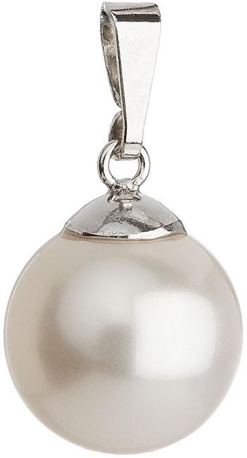 Evolution Group Přívěsek s perličkou 34151.1 bílá