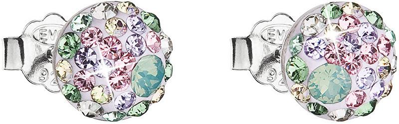 Evolution Group Slušivé náušnice s krystaly Sakura 31136.3
