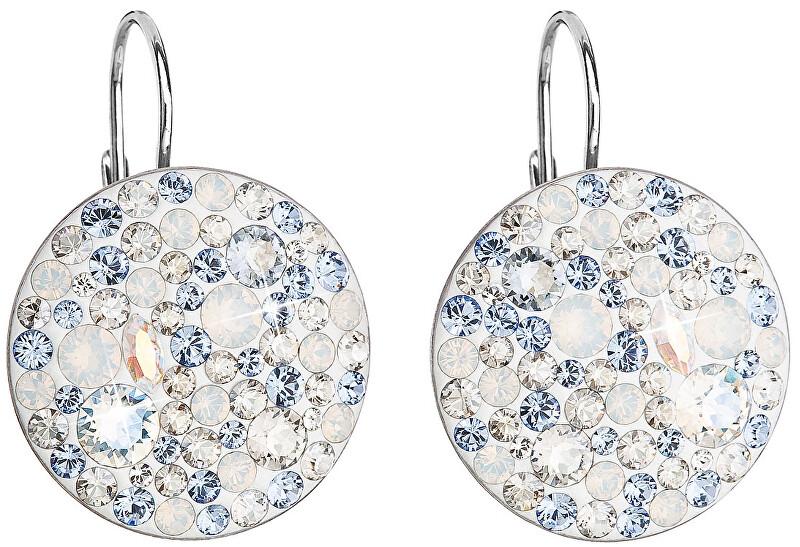Evolution Group Stříbrné náušnice s krystaly 31161.3 Light Sapphire