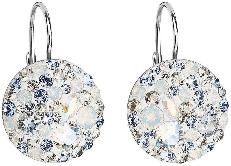 Evolution Group Stříbrné náušnice s krystaly 31183.3 light sapphire