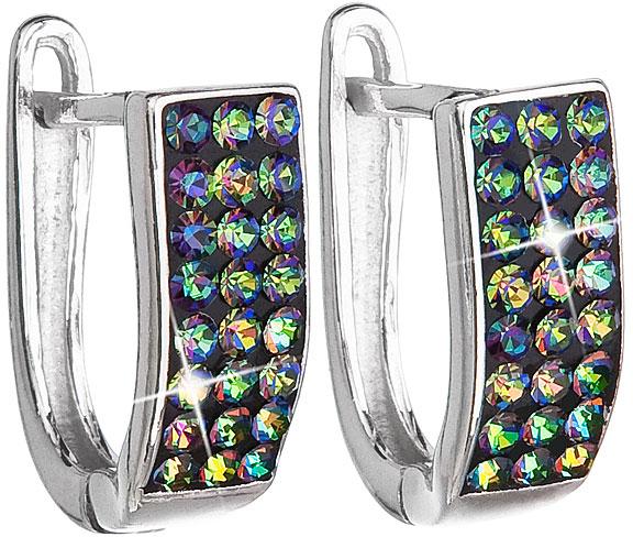 Evolution Group Stříbrné náušnice s krystaly Swarovski 31123.5 vitrail medium