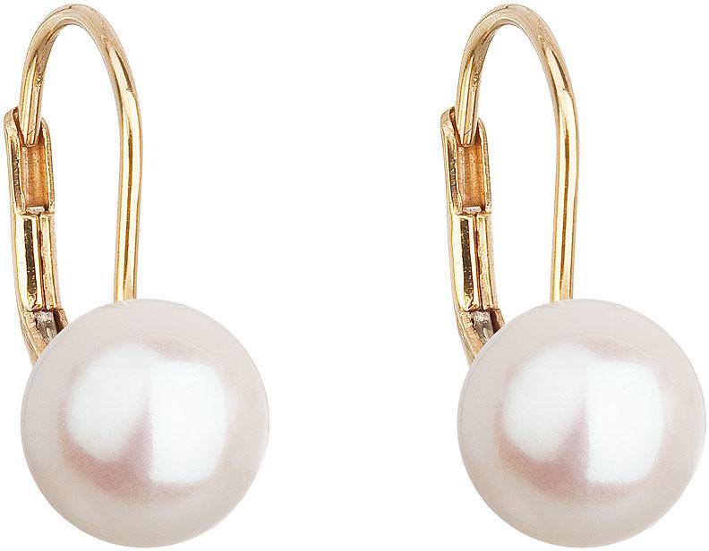 Evolution Group Zlaté visací náušnice s pravými perlami Pavona 921009.1