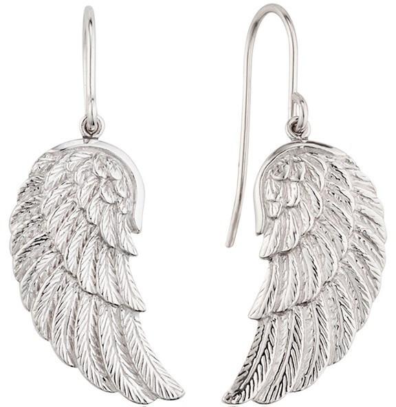 Engelsrufer Stříbrné náušnice Andělské křídlo ERE-WING
