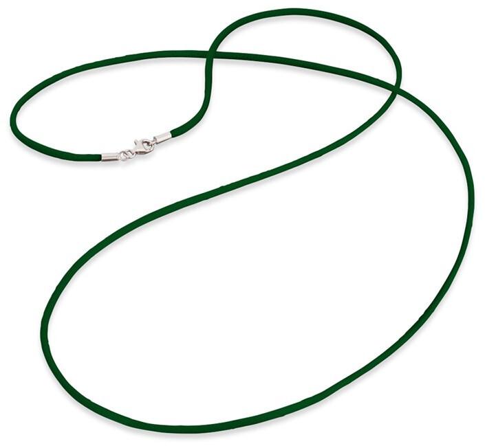 Engelsrufer Zelená saténová šňůrka ERN-60-SI-04