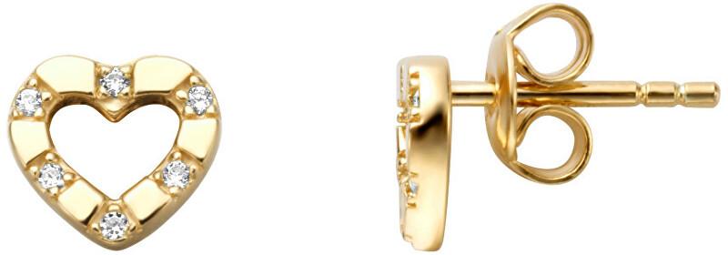 Esprit Romantické pozlátené náušnice kôstky so zirkónmi ESER01351200