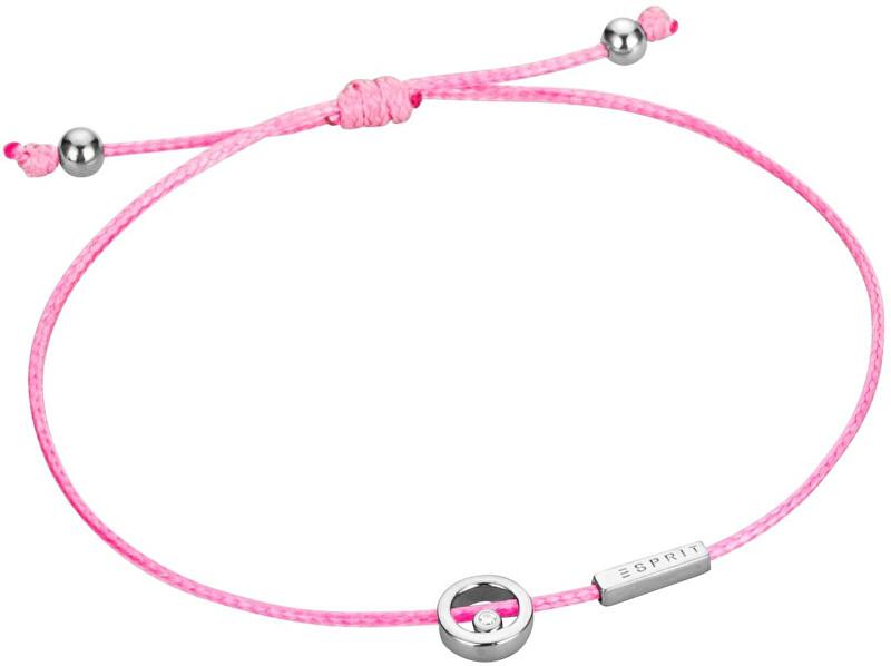 Esprit Růžový šňůrkový náramek Mini ESBR00741A21