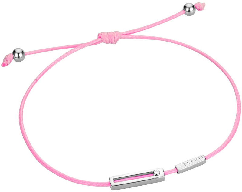 Esprit Růžový šňůrkový náramek Mini ESBR00741D21