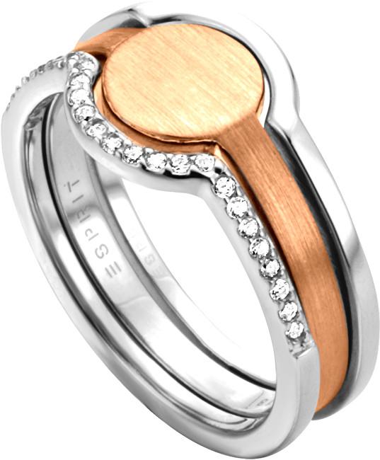 Esprit Stříbrný bicolor prsten 2v1 Fuse ESRG003012 50 mm