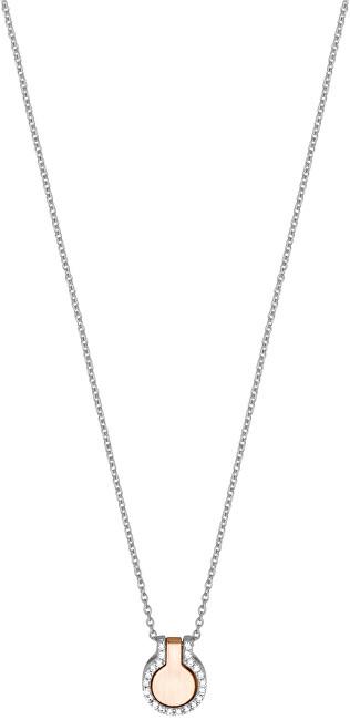 Esprit Strieborný náhrdelník s bicolor príveskom ESNL00301242 (retiazka, prívesok)