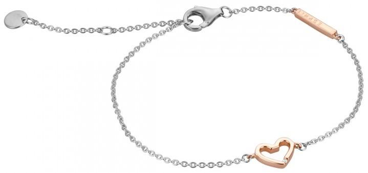 Esprit Stříbrný náramek se srdíčkem Melody ESBR00691217