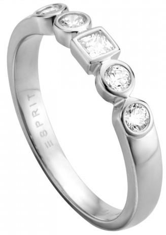 Esprit Stříbrný prsten s krystaly Flow ESRG005211 51 mm