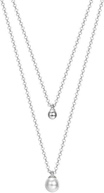Esprit Vrstvený stříbrný náhrdelník s perličkou ESPRIT-JW52906
