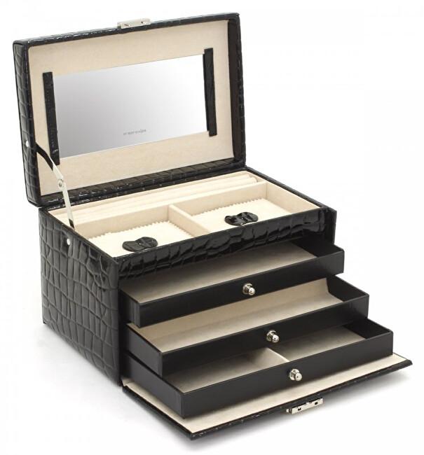 Friedrich Lederwaren Šperkovnice černá/béžová Jolie 23254-20