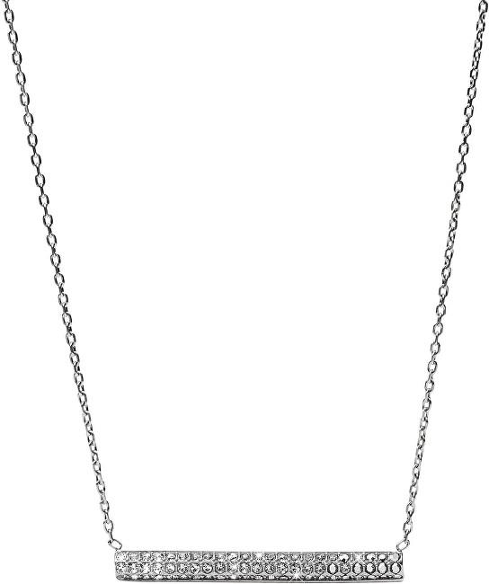 Fossil Colier din oțel cu cristale JF02145040