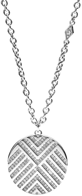 Fossil Colier din oțel cu cristale JF02673040