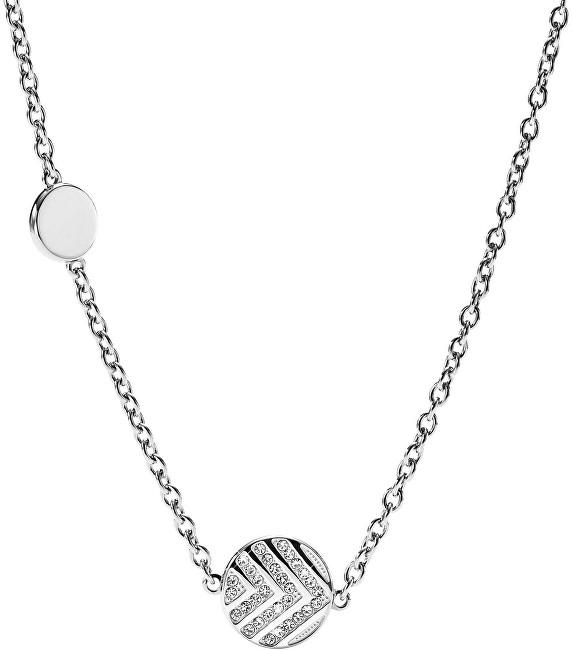 Fossil Colier din oțel cu cristale JF02674040