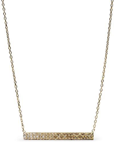 Fossil Zlatý náhrdelník s krystaly JF02143710