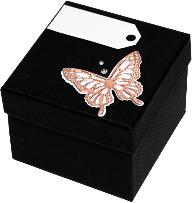 Giftisimo Luxusní dárková krabička s bronzovým motýlkem