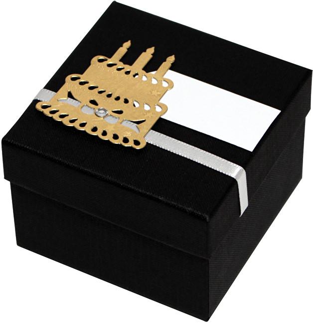 Giftisimo Luxusní dárková krabička se zlatým dortem