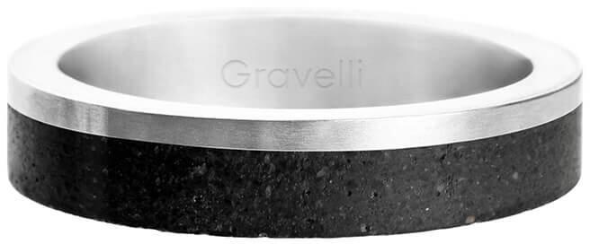 Gravelli Betonový prsten Edge Slim ocelová/antracitová GJRUSSA0021 53 mm