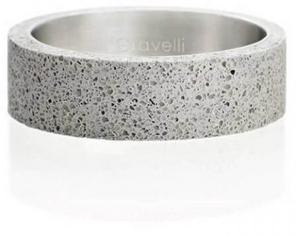 Gravelli Betonový prsten šedý Simple GJRWRGA001 53 mm