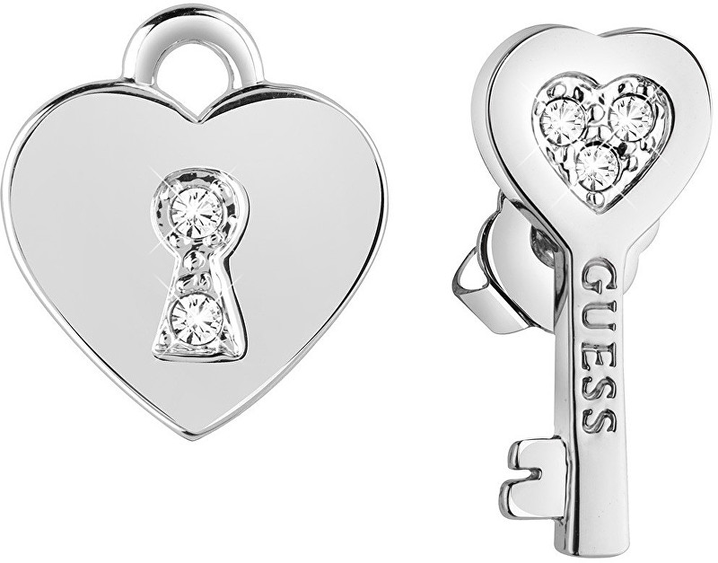 Guess Cercei asimetrici Cheia inimii UBE83095