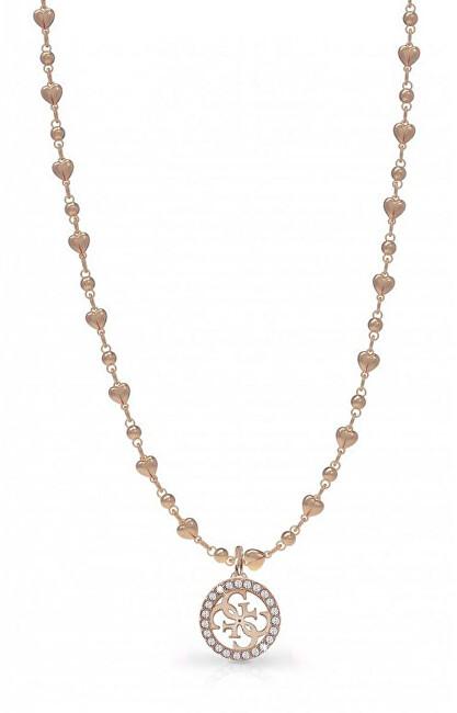 Guess Bronzový náhrdelník UBN78017