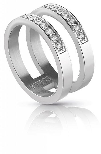 Guess Dvojitý prsten s krystaly UBR78006 52 mm