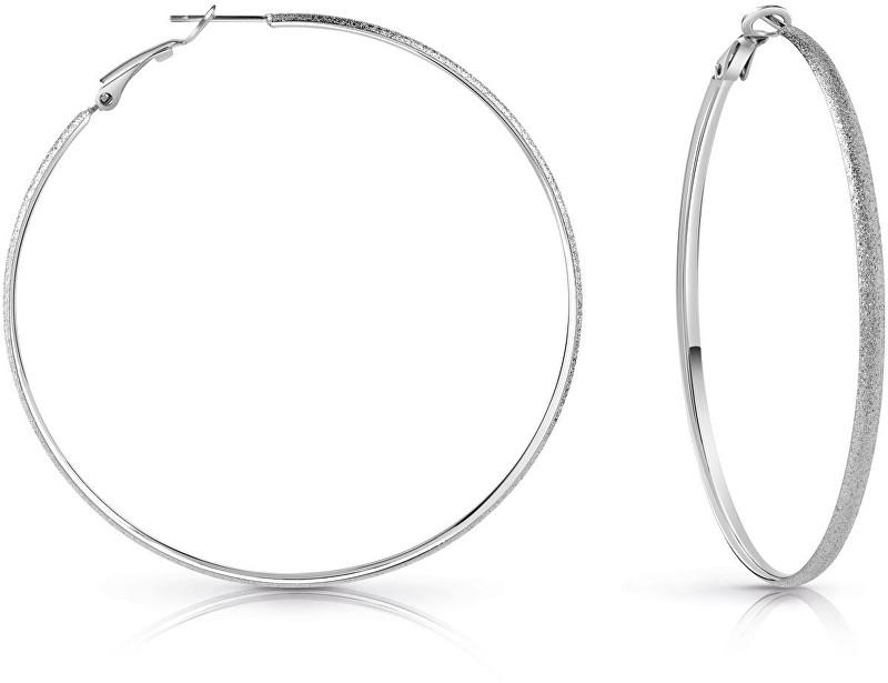 Guess Elegantní náušnice kruhy UBE28090