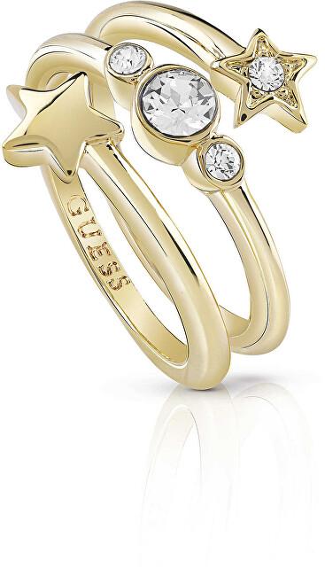 Guess Hvězdný prsten s krystaly UBR84003 50 mm