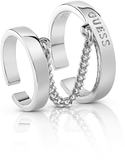 Guess Luxusní dvojitý prsten UBR84012 50 mm