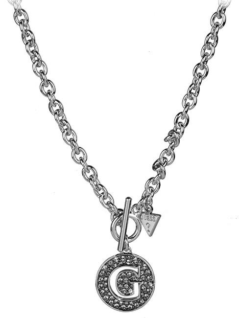 Guess Masivní náhrdelník s třpytivým G UBN51489