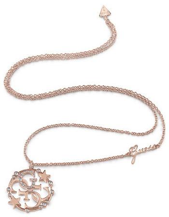 Guess Módní bronzový náhrdelník UBN28020