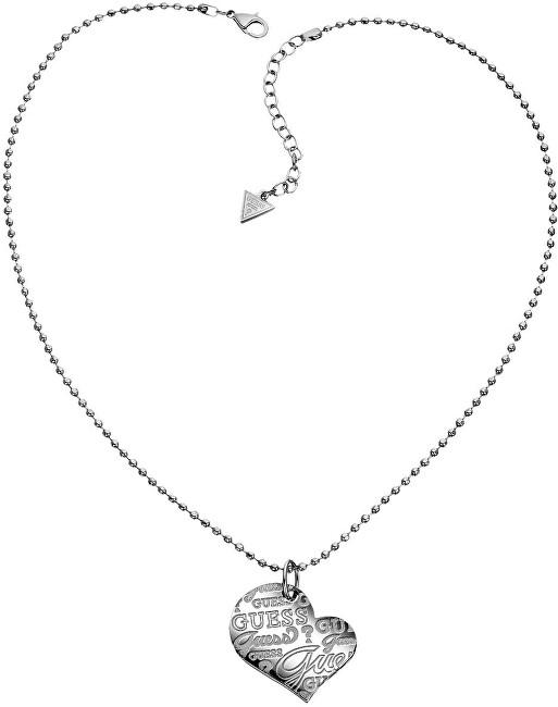 Guess Ocelový náhrdelník se srdcem USN80912