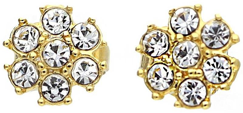 Guess Cercei placați cu aur și cristale UBE21542