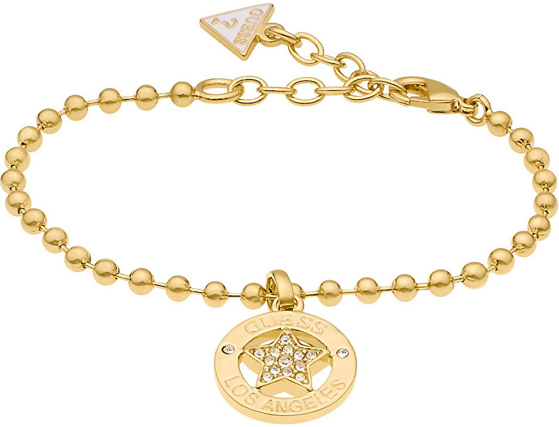 Guess Pozlacený náramek s krystaly UBB21589-S