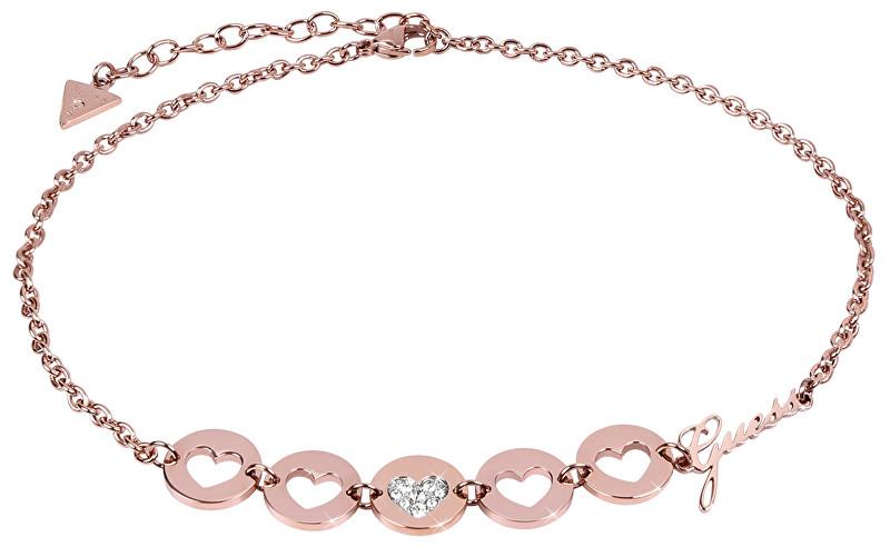 Guess Romantický náhrdelník choker Jamila UBN85024