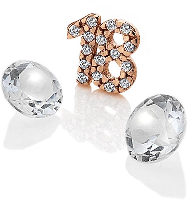 """Hot Diamonds Element """"18"""" se zirkony a topazy EX209"""