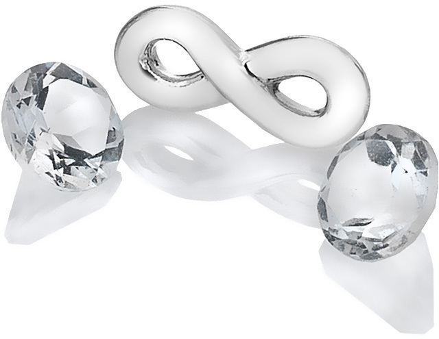 Hot Diamonds Element nekonečno s topazy Anais AC120
