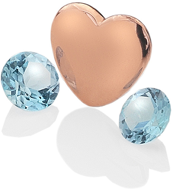 Hot Diamonds Element srdce s topazy Anais Prosinec EX143