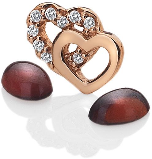 Hot Diamonds Element Srdíčka s granáty Anais EX107