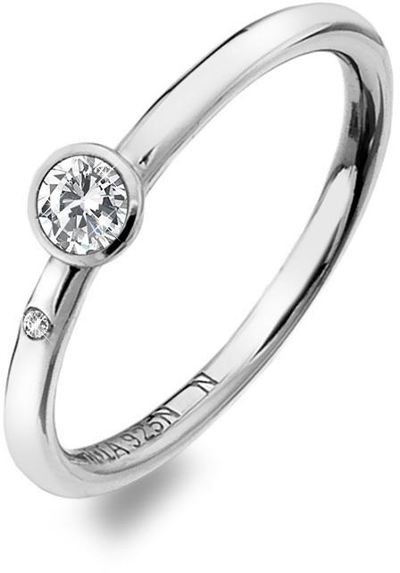 Hot Diamonds Luxusný strieborný prsteň s topazom a diamantom Willow DR206 51 mm