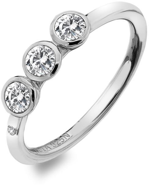Hot Diamonds Luxusný strieborný prsteň s topaz a diamantom Willow DR205 51 mm