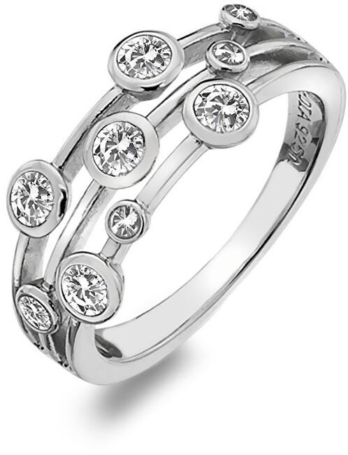 Hot Diamonds Luxusní stříbrný prsten s topazy a diamantem Willow DR207 52 mm